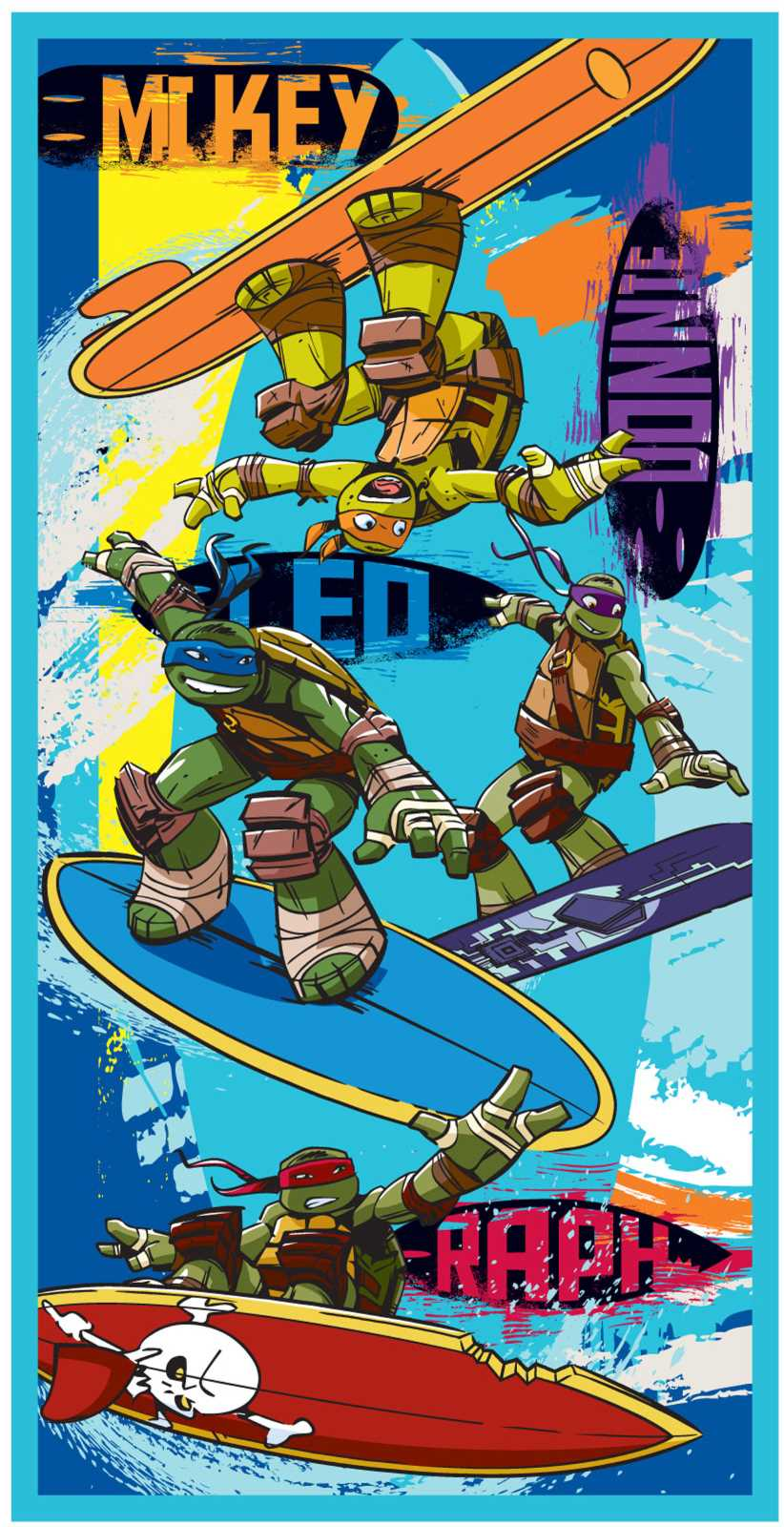 Teenage Mutant Ninja Turtles Surf Towel Collins Cash