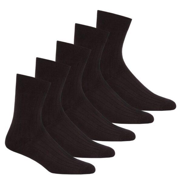 40B492PH_Mens_5PK_Ribbed_Ankle_Socks_Black