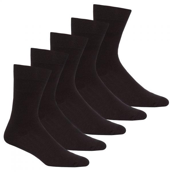 40B493PH_Mens_5PK_Plain_Ankle_Socks_Black