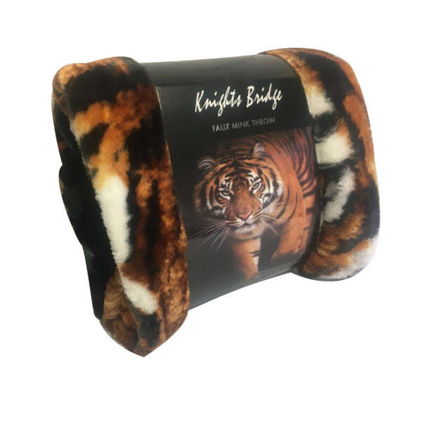 Tiger Faux Mink Throw_1